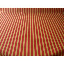 "Funky Stripe Poly Cotton Fabric by the metre - 44"" / 112cm Wide - Yellow / Red"