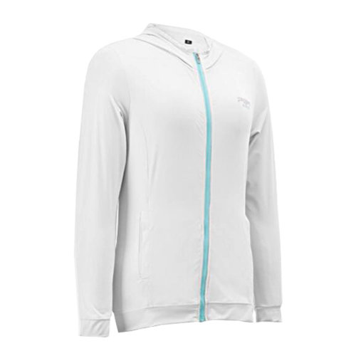 Womens Golf Ice Silk Coat Outdoor Sun Protective Clothing White