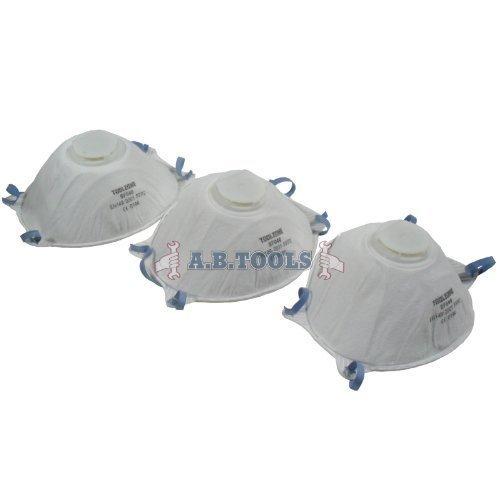 3pc Dust Masks With Valve Air Respirators Te060