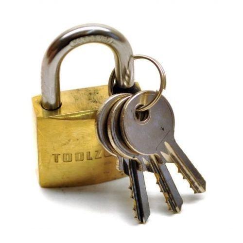 Brass Padlock 25mm Heavy Duty Shed Lock Security Chain TE691