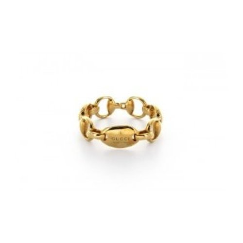 GUCCI HORSEBIT RING 18KT YELLOW GOLD size 16 181361 J8500 8000