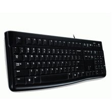 Logitech K120, US USB QWERTY US International Black keyboard