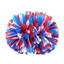 2PCS Matt Team Sports Cheerleading Poms Large Match Dance Props-Colorful