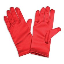 Red Satin Children's Gloves - Childs Accessory Fancy Dress -  gloves red childs accessory fancy dress