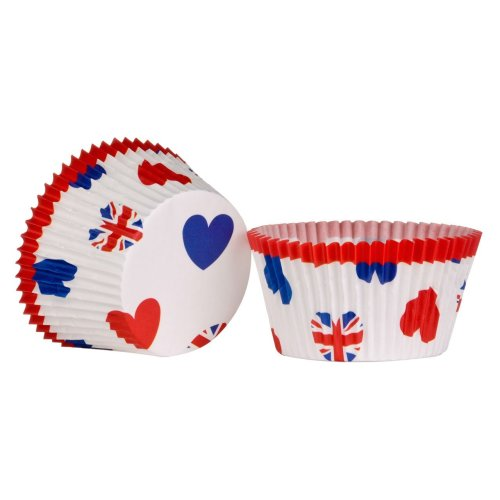 I Love UK Large Cupcake Cases, 40 Pieces
