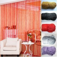 String Line Door Curtain Ribbon Room Divider Window Panel Fringe Tassel Beaded