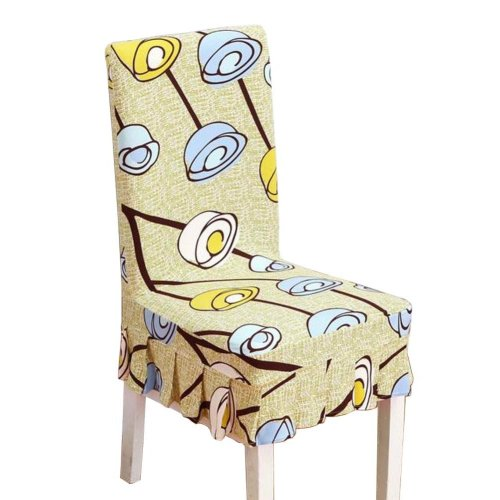 [Flowers-02] Stretch Dining Chair Slipcover Chair Cover Chair Protector
