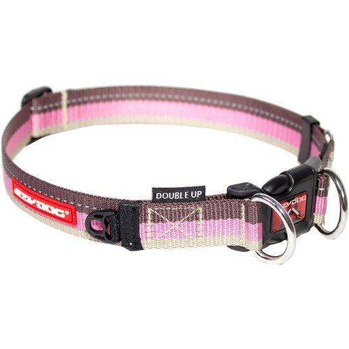 Ezydog Double Up Collar, Large, Candy Stripe