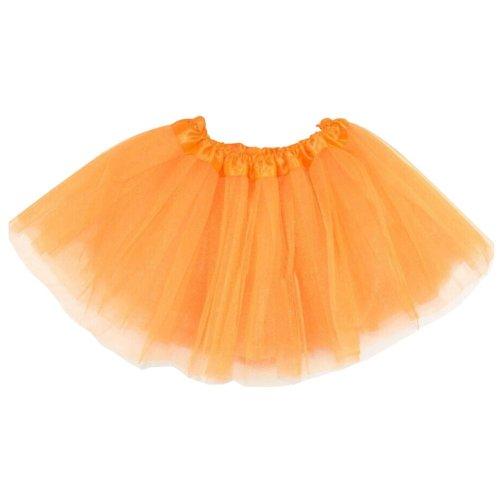 [ORANGE]Lace Plain Ballet Dress Yarn Child/Audlt Ballet Tutu,One Size