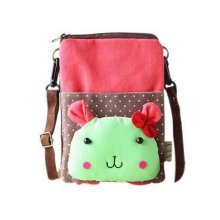 Cartoon Canvas Phone Bag Korean Version Of Lovely Girl Mini Cloth Bag Red Rabbit