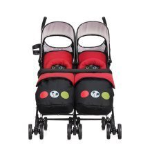 Obaby Twin Stroller Disney Twin - Mickey Circles with Footmuffs