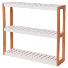 vidaXL Bathroom Shelf Bamboo 60x15x54 cm