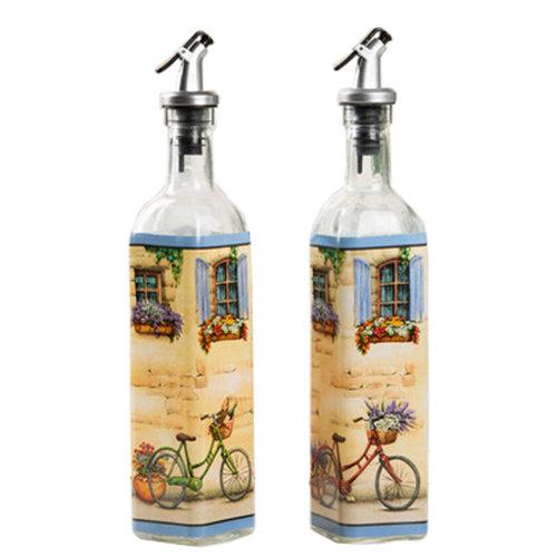 2PCS Creative Cruet Vinegar Bottle Glass Bottle Oil Container Oil Jar, NO.10