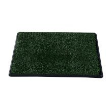 Pawhut Indoor Dog Toilet Training Mat Potty Tray Grass Restroom Portable (64w X 3t (cm))