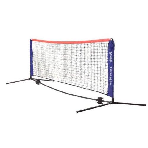 Champion Sports MTNSET Mini Tennis Net Set, Blue & Black