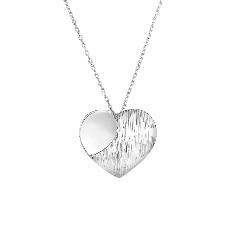 Sterling Silver Polished Mad Love Pendant