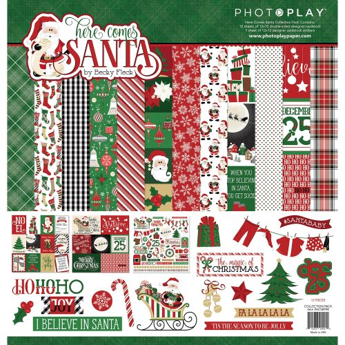 "PhotoPlay Collection Pack 12""X12""-Here Comes Santa"