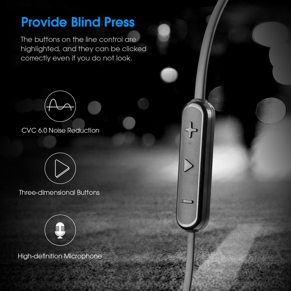 3c4b444906e ... Wireless Headphones SoundPEATS Sport Bluetooth Earphones IPX5 Waterproof  Bluetooth Headphones In Ear Wireless Magnetic Earbuds with ...