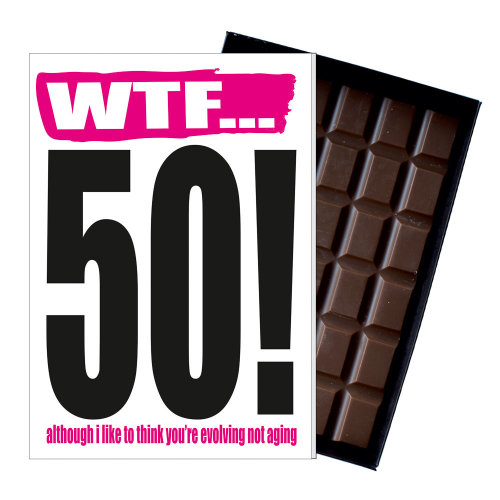 Funny 50th Birthday Gift Rude Naughty Present For Him Or Her 85g Chocolate Card