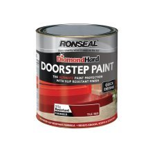 Ronseal Diamond Hard Doorstep Paint 250ml - Tile Red