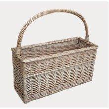 Antique Wash Magazine or Flask Basket