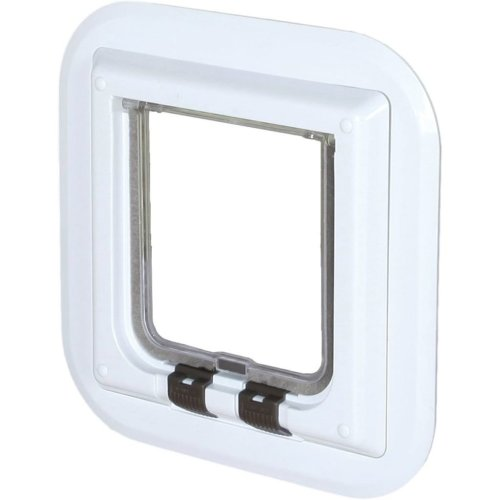 TRIXIE 4 Way Cat Flap for Glass Doors 27x27 cm White 38631