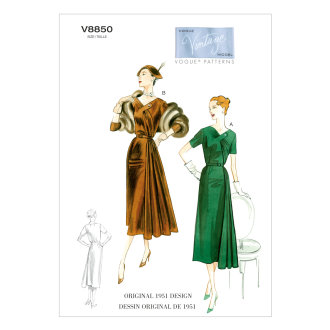 Vogue Misses' Dress and Belt-8-10-12-14-16 -*SEWING PATTERN*