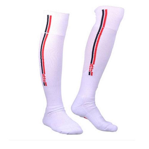1 Pair White Non-slip Athletic Sock