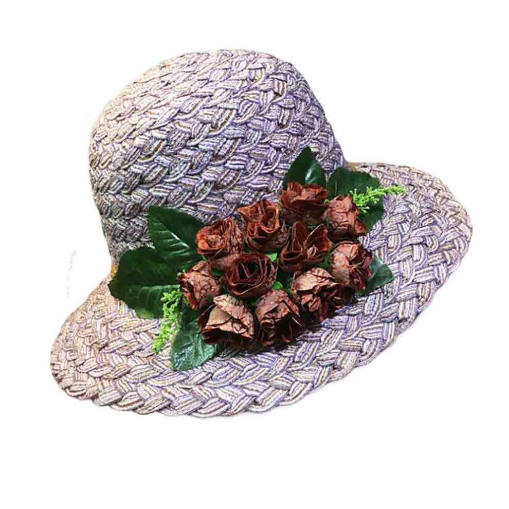 ccda1cc5d45fb Folding Straw Hat Retro Style Rose Summer Holiday Beach Cap Stylish Bucket  Hat on OnBuy