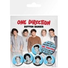 One Direction Black and White Badge Pack