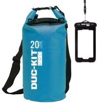 (Blue) Duc-Kit Pro 20L Premium Dry Bag & IPX8 Phone Case