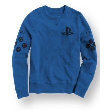 PlayStation w/ Controller & Icons Print Blue Sweat