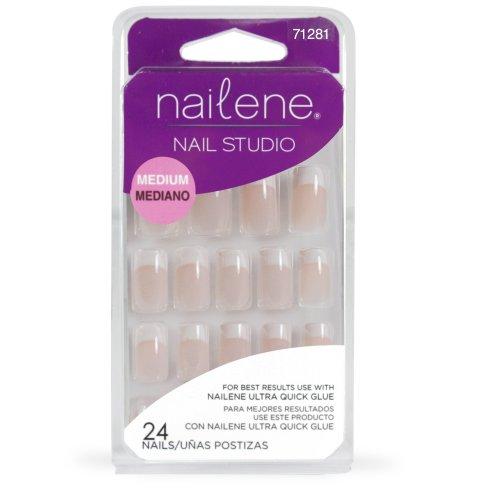 Nailene Nail Studio Pink French Medium Nails