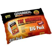 Grabber Warmers Toe Warmer Big Pack (8-Pack), 9 x 4.5-Inch