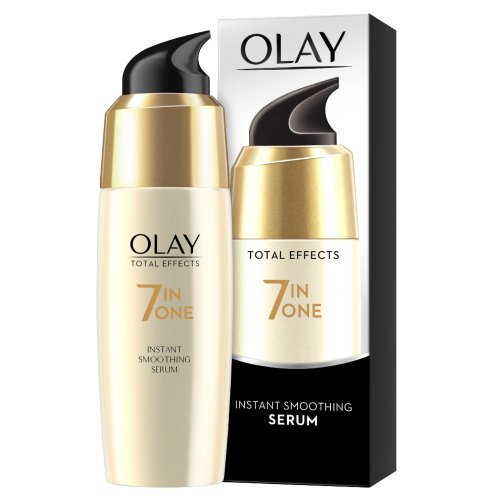 Olay Total Effects Anti-Ageing 7-in-1 Instant Smoothing Serum Fights the 7 Signs of Ageing for Silky and Smooth Skin, 50 ml