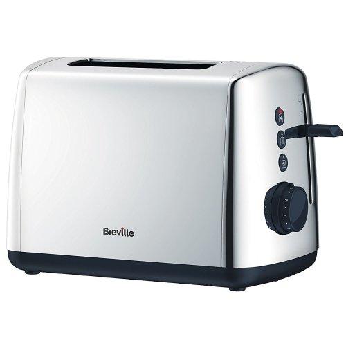 Breville Vista 2-Slice Wide Slot Toaster Polished Stainless Steel Silver, VTT548