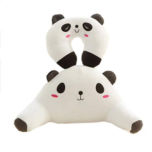 A Set Of U Shaped&Back Cushion Healthy Neck Pillow Travel Neck Pillow,Panda