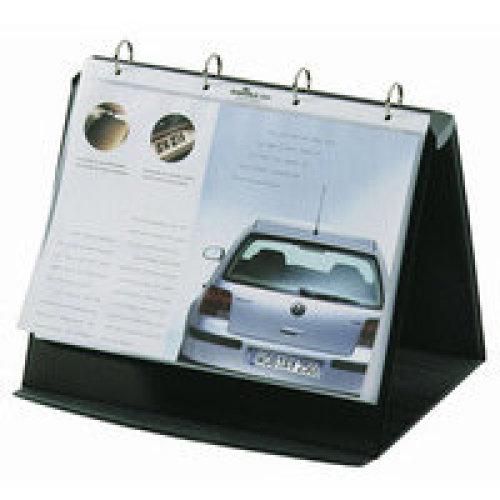 Durable Durastar Freestanding PVC Graphite,Grey flip chart