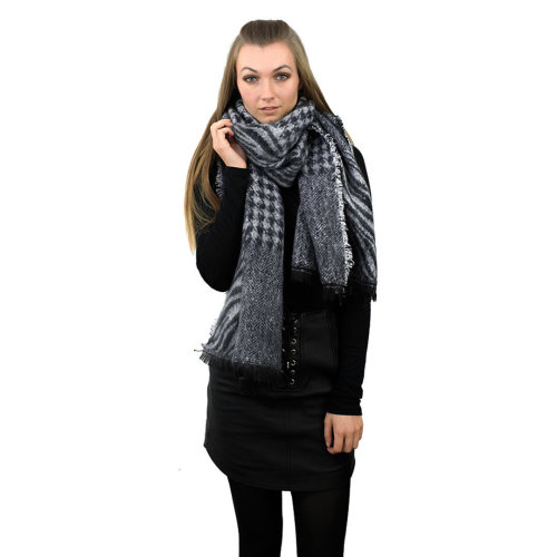 Miss Lulu Women Grey Scarf Winter Warm Shawl