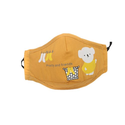 PM2.5 Children's Mask For Anti-smog Of N95 Activated Carbon (Yellow)