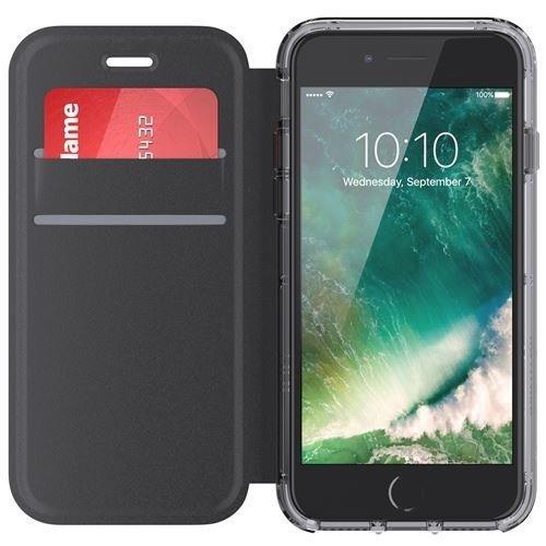 Griffin Survivor Clear Wallet Case for iPhone 7 6s 6 - Black