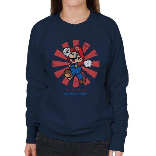 Super Mario Retro Japanese Women's Sweatshirt