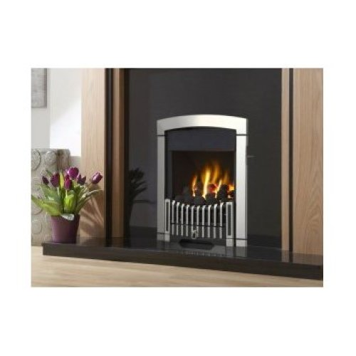 Designer Fire - Flavel FKPCSLSN Silver Rhapsody Plus Gas Fire - SC