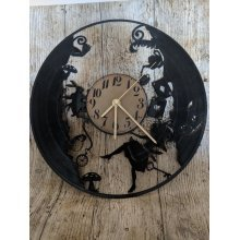 Alice In Wonderland Vinyl Record Clock home decor gift