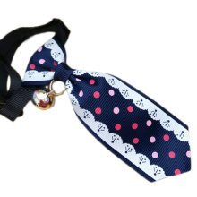 England Style Pet Collar Tie Adjustable Bowknot Cat Dog Collars with Bell-B13