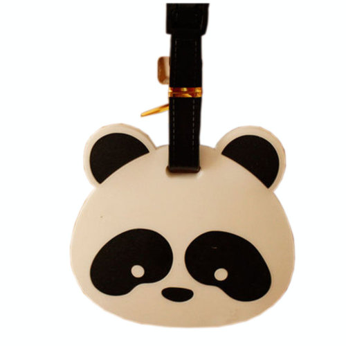 Lovely Cool Big Head Panda Luggage Tag Silicone Baggage Tag Unique Luggage Tags