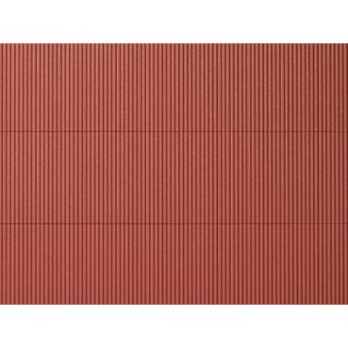 HO Plastic sheet 200x100mm (2) Corrugated iron red - Auhagen AUH52230 - F1