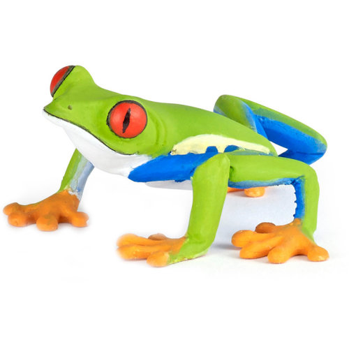 "Papo ""red Eyes Frog"" Figure (multi-colour) - Frog Tree 50210 Wild Animal -  frog tree papo 50210 wild animal redeyed figure kingdom 7 cm"