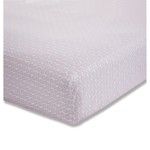 Bianca Ditsy Cotton Print Double Fitted Sheet Pink