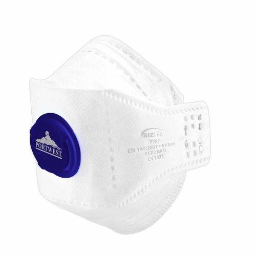 sUw - Pack of 10 EAGLE FFP2 Valved Flexible Dolomite Foldable Respirators